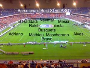 Barcelona's strongest XI vs PSG