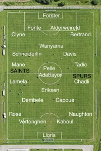 Picture: Tottenham vs Southampton Best XIs plus injury news