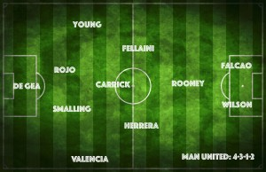 Manchester United's Best XI vs Southampton: 4-3-1-2 with 3 strikers and no RvP