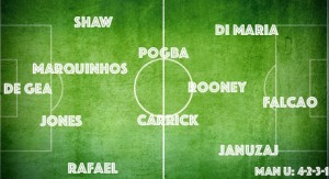 PICTURE: A Manchester United XI with Paul Pogba and Marquinhos